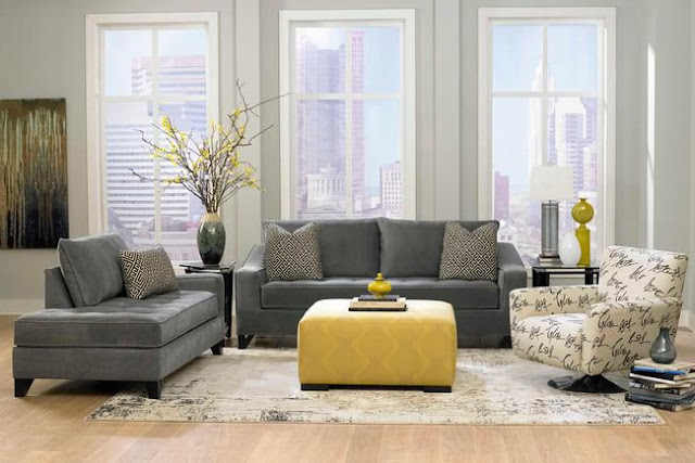 light gray living room furniture