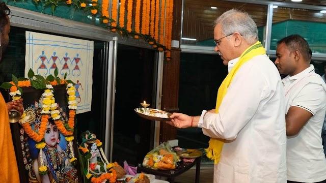 मुख्यमंत्री निवास में हर्षाेल्लास के साथ मनाया गया श्री कृष्ण जन्माष्टमी का पर्व