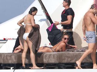 Michelle Rodriguez beautiful tits changing clothes on beach wow sexy candids milky white skin bikini pics