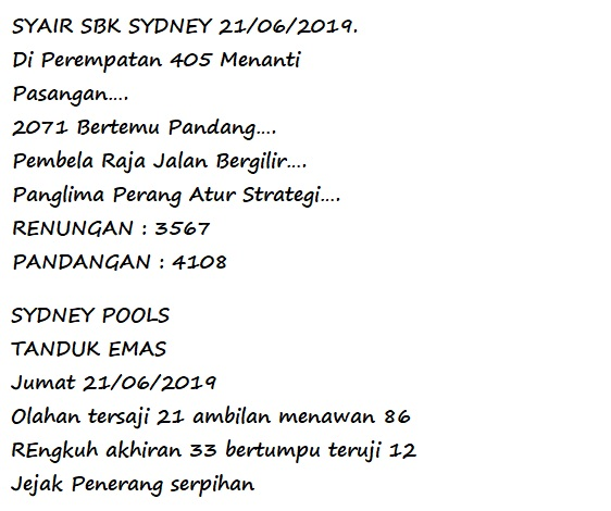 FORUM SYAIR SYDNEY