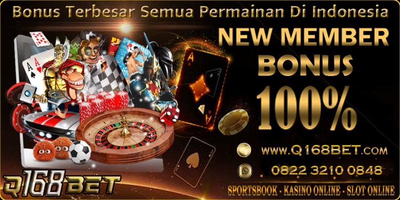Bonus Member Baru 100 Q168bet Trik Rahasia Menang Slot Online
