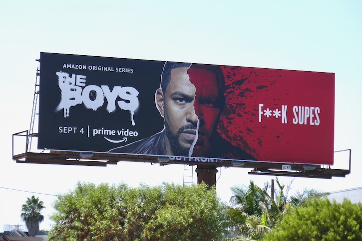 Boys season 2 F**k Supes billboard