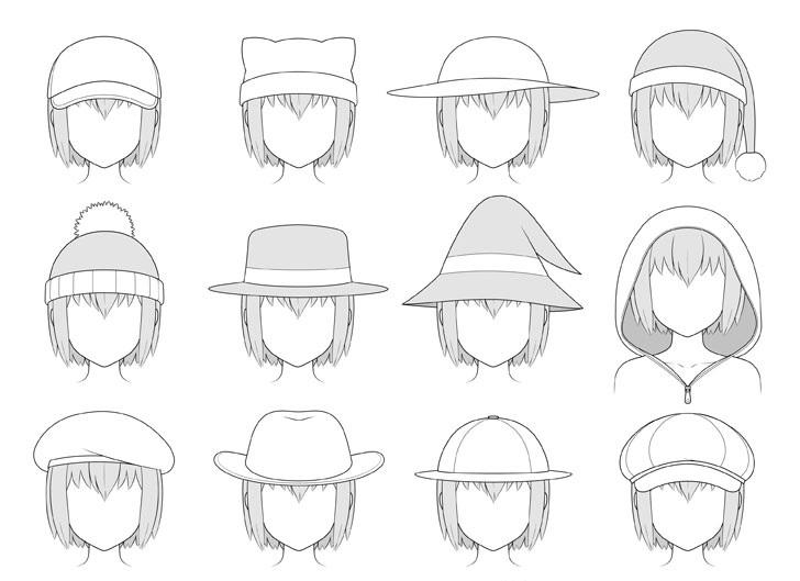Topi anime gambar berbayang