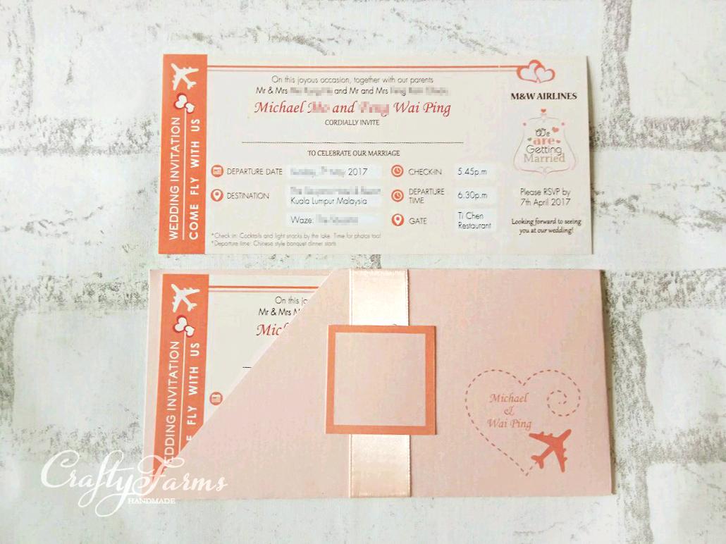 Wedding Card Malaysia Crafty Farms Handmade Peach And Coral