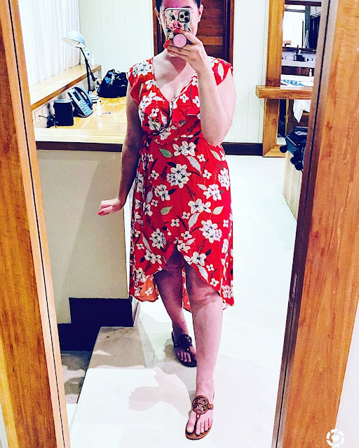 Red Floral Wrap Dress || Tori's Pretty Things