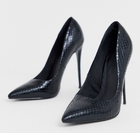 basic black heeled pumps