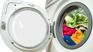 cara membilas pakaian mesin cuci