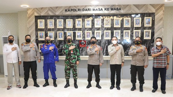 Kapolda Sulsel Menjamu Kunjungan Perdana Danlanud Sultan Hasanuddin