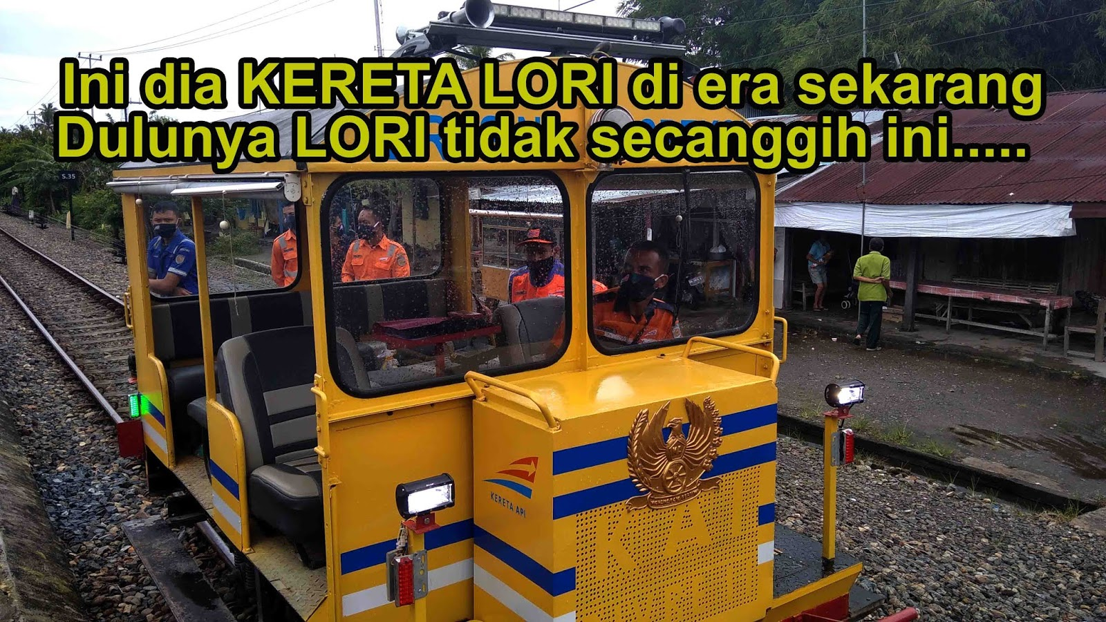 Kereta Lori Inspeksi memiliki kecepatan 20 km/jam