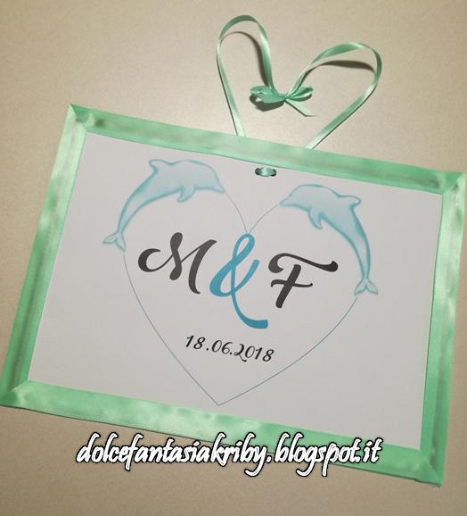 cartello personalizzato logo nozze