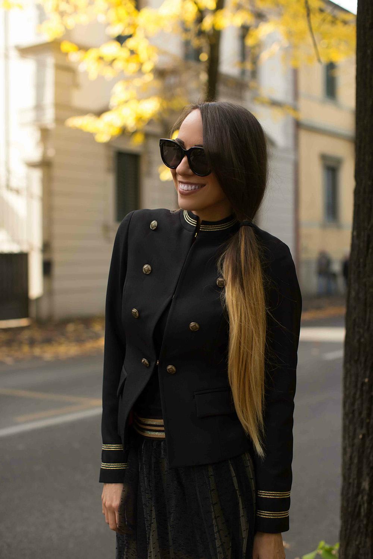 giacca stile militare