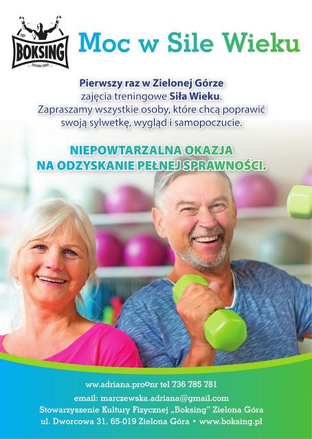 Senior, 50+, 60+, aktywność osób starszych, trening seniorów, Zielona Góra, Siła Wieku, klub seniora, koordynacja, równowaga, zapobiegać, leczyć, sprawność, zdrowie, sport, siła, Adriana Marczewska, Kinga Szlachcic
