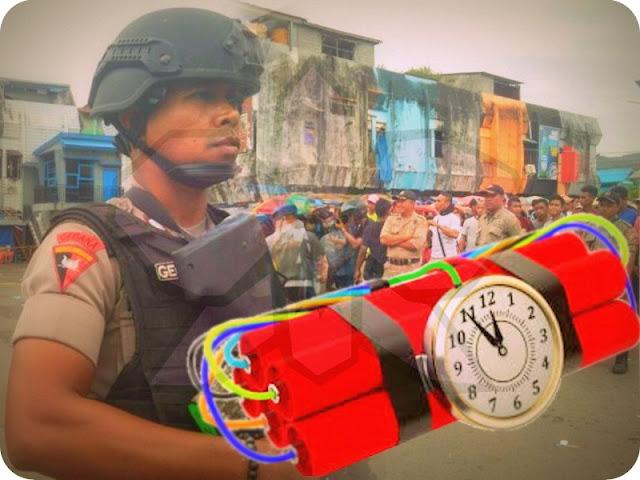 Warga Temukan Bom Pipa di Terminal Pasar Mardika