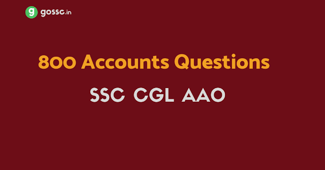 SSC CGL AAO Questions PDF