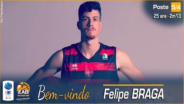 Brasileiro Felipe Braga deixa o CAB Madeira e acerta com o Angers, da França