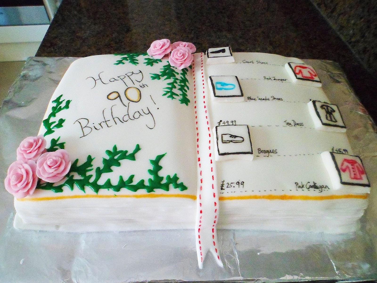 Magnificent Catalogue Cake Grandmas 90Th Birthday Personalised Birthday Cards Paralily Jamesorg