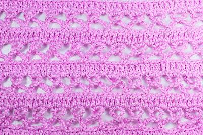 5 - Crochet Imagen Puntada combinada de baretas y cadenas a crochet y ganchillo por Majovel Crochet