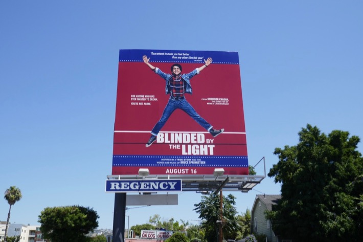 Blinded by the Light film billboard