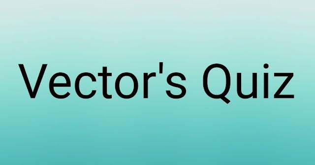 Vectors Quiz