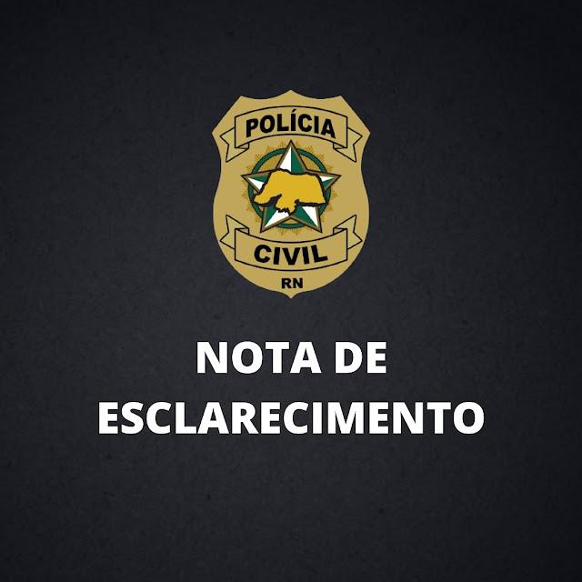 Nota de Esclarecimento sobre adiamento das provas do concurso da Polícia Civil 2021 no RN