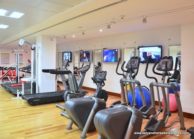the fully equipped gymnasium