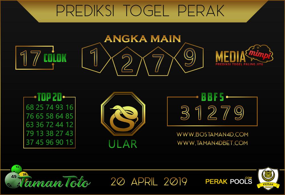 Prediksi Togel PERAK TAMAN TOTO 20  APRIL 2019