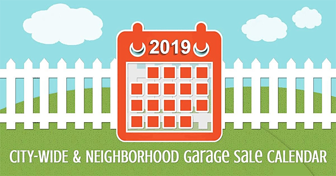 Calendar of City-Wide and Neighborhood Garage Sales