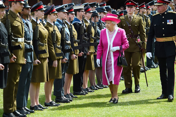 The Queen, in her role as Patron of the school, will inspect a Guard of Honour formed from the school's Combined Cadet Force