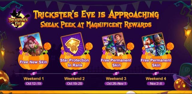 Event trickster terbaru dari Mobile Legends cukup menarik untuk kita bahas Event Terbaru Trickster's Eve Haloween Mobile Legends Oktober 2019