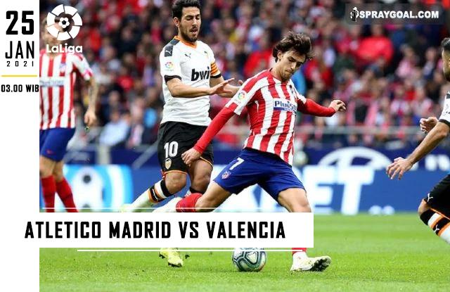 Prediksi Skor Atletico Madrid Vs Valencia Senin 25 Januari 2021