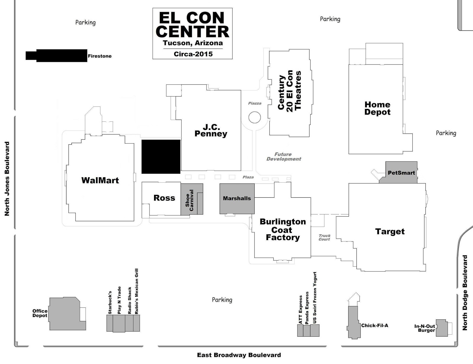 Home depot in tucson az on broadway - 14_el Con Mall Plan 2015 Jpg