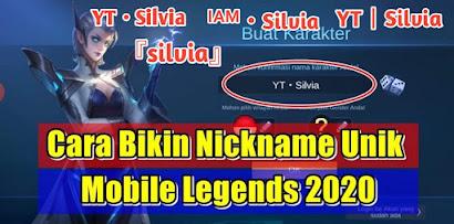 Cara Membuat Nickname Unik Dengan Simbol Keren Di Mobile Legends 2020