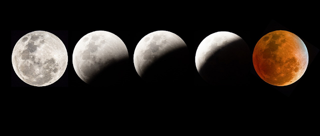 Blood Moon Eclipse. Eclipse in 2020