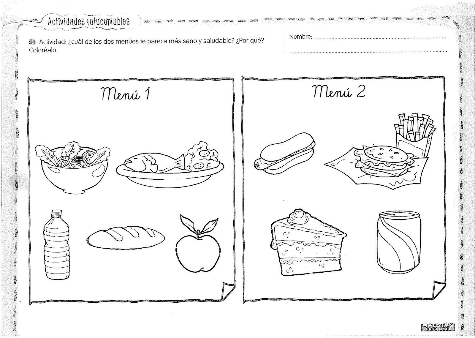 Alimentos Nutritivos Para Niños Para Colorear Imagui