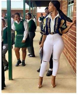 Teacher's Curvy Backside Makes Her A Sensation Among Her Students [Photos]