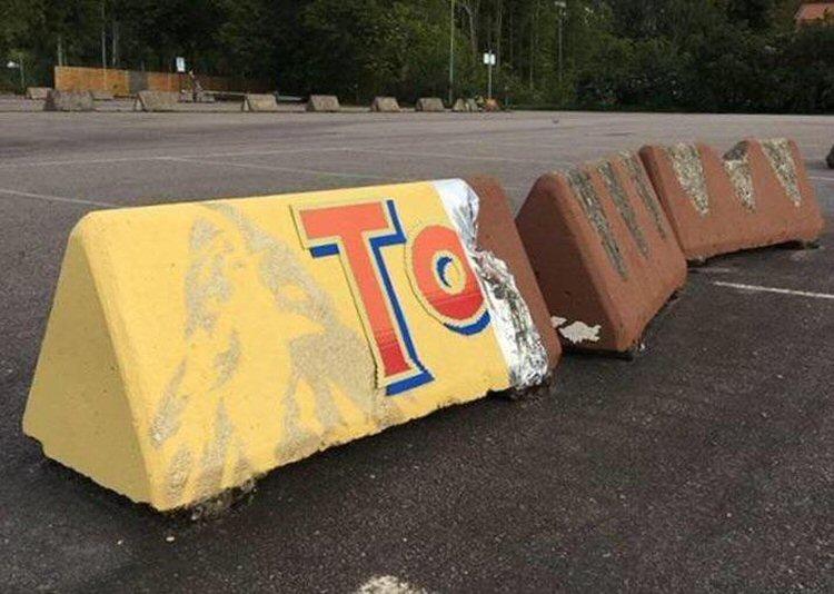 Toblerone: Road safety