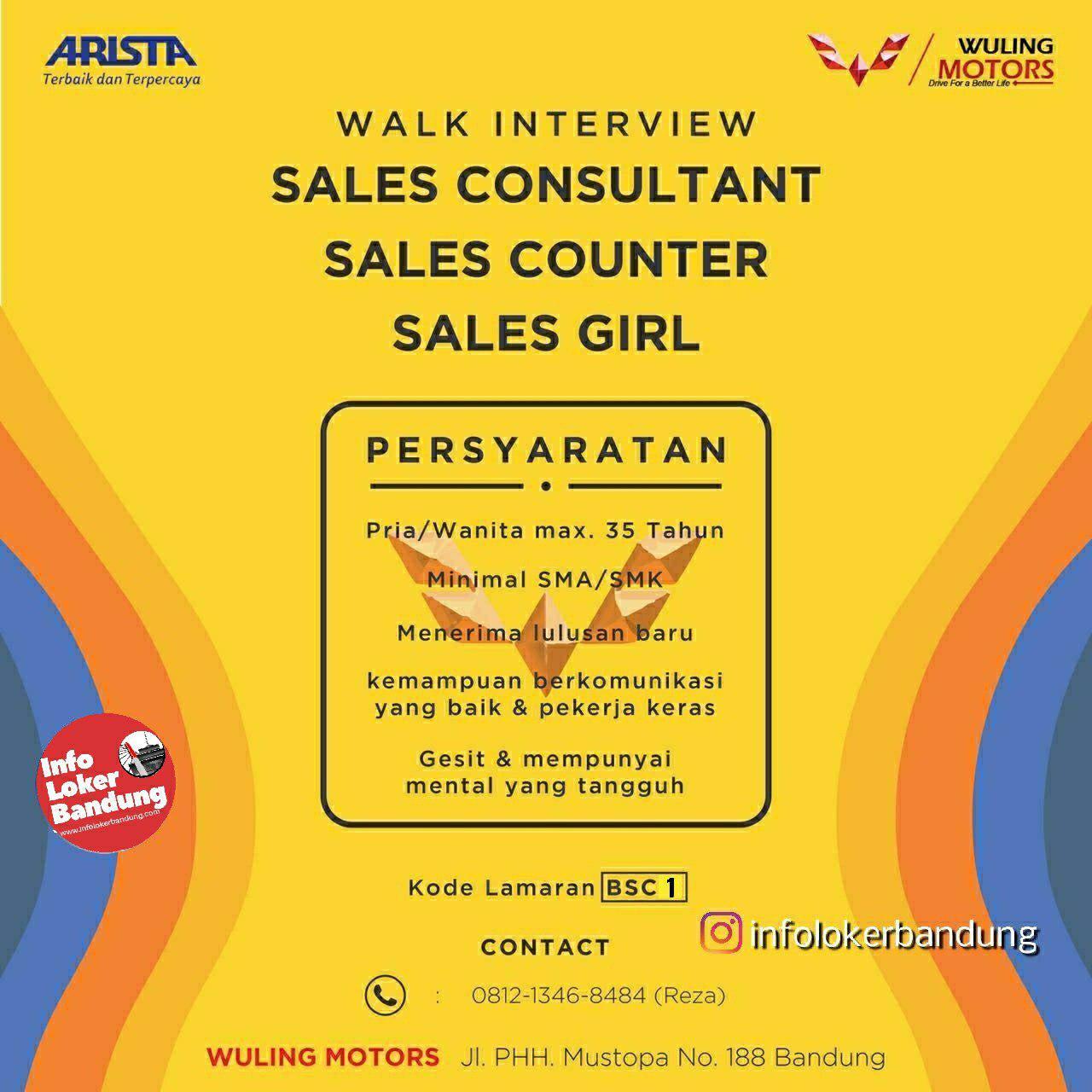 Lowongan Kerja Wuling Motors Bandung ( Walk In Interview ) Bandung Agustus 2019