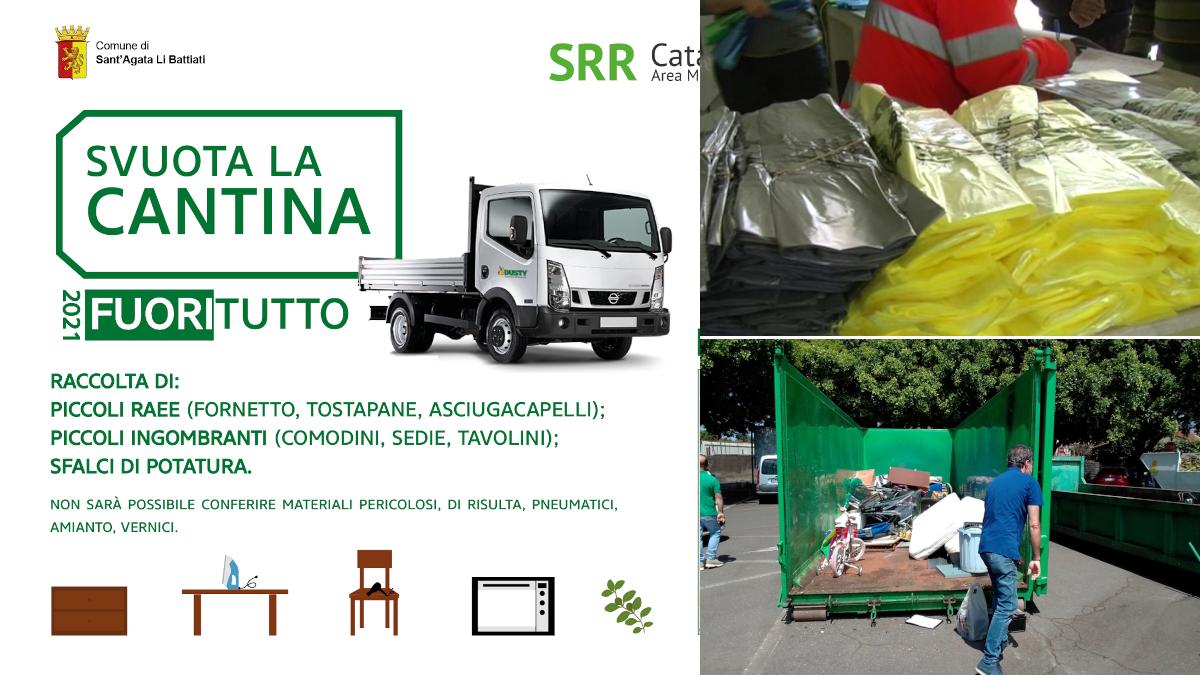 Sant'Agata Li Battiati estate green raccolta differenziata mercato svuota la cantina