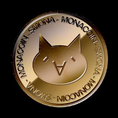モナコイン(MonaCoin)のフリー素材(銅貨ver)