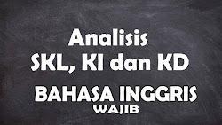 Analisis SKL KI dan KD Bahasa Inggris Wajib SMA Tahun 2021