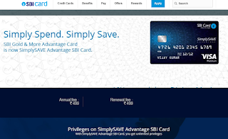 SBI Gold & more Advantage Card, How to Apply SBI Credit Card Online