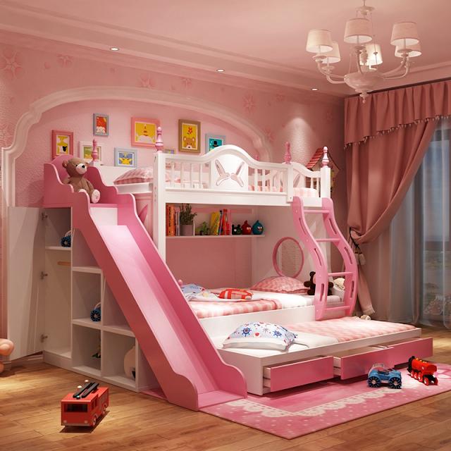 Giường tầng giúp bé nghỉ ngơi, thư giãn
