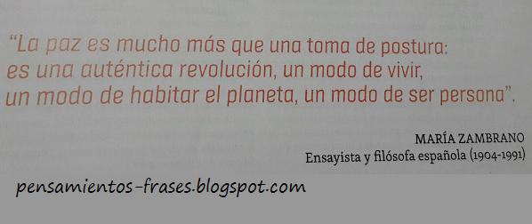 frases de María Zambrano