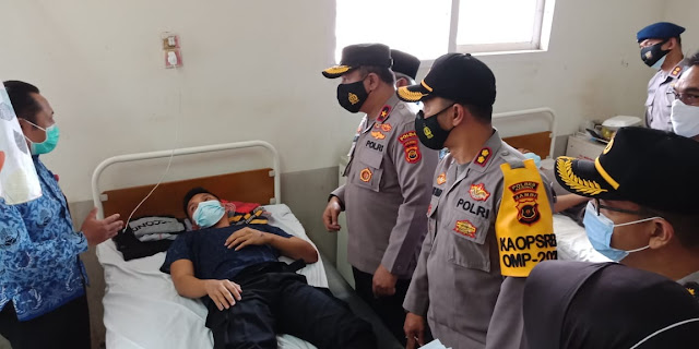 Wakapolda Jambi Tinjau Personel Kecelakaan Lalu lintas di Muara Emat