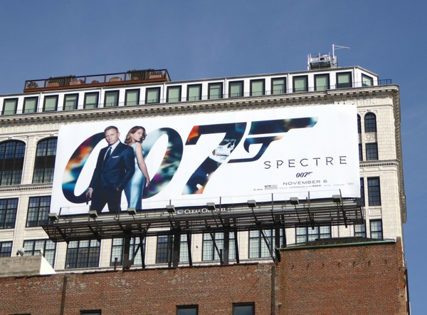 007 Spectre movie billboard NYC
