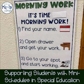 Visual supports in special education