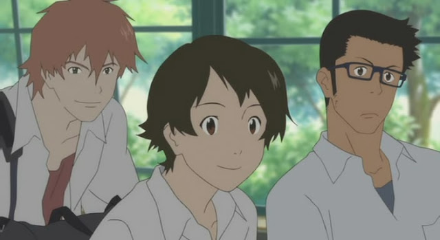 Makoto, Chiaki e Kosuke Anime The Girl Who Leapt Through Time