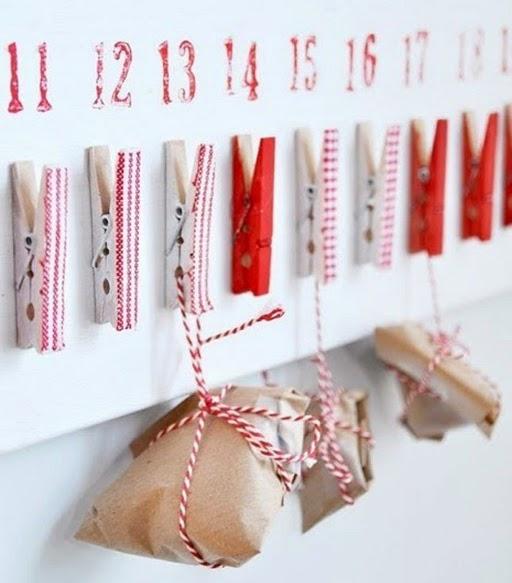 kalendarz adwentowy klamerki