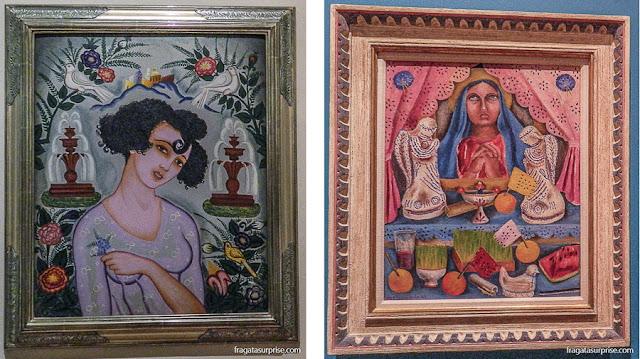 """Pintores mexicanos: Adolfo Best Maugard, """"La Polvoreda"""" e Maria Izquierdo, """"Altar de Dores"""""""