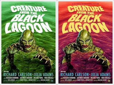 Creature From The Black Lagoon Movie Poster Screen Print by Jason Edmiston x Mondo